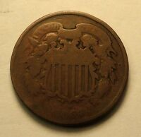 1864 TWO CENT CIVIL WAR  SHIPS FREE