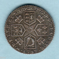 GREAT BRITAIN. 1787 GEORGE 111 SHILLING.. WITHOUT HEARTS..  VF