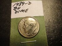 1989 D   BU  ROOSEVELT DIME   WE COMBINE SHIPPING