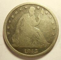 1843 O SEATED HALF DOLLAR NICE