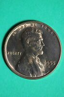 RED 1955 S LINCOLN WHEAT CENT BU EXACT COIN PICTURED $1.99 FLAT RATE SHIP 060