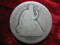 1875 S SEATED LIBERTY SILVER HALF DOLLAR BETTER DATE HISTORIC COIN