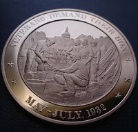 1932 UNITED STATES VETERANS   FRANKLIN MINT SOLID BRONZE MEDAL   UNCIRCULATED