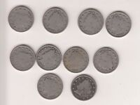 LIBERTY NICKELS   V TYPES  1903 1912 10 DIFFERENT FULL RIMS