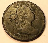1801 DRAPED BUST LARGE CENT S224 R1