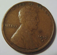 1913 S LINCOLN WHEAT CENT PENNY COLLECTOR COIN  28N
