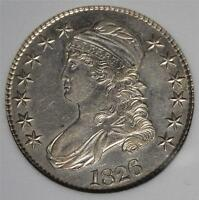 1826 MS CAPPED BUST HALF DOLLAR UNCIRCULATED  90 SILVER SHIPS FREE 981