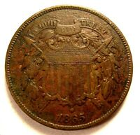 1865 TWO CENT SOLID WE CIVIL WAR  SHIPS FREE