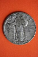 1927-P STANDING LIBERTY QUARTER 90 SILVER $1.99 FLAT RATE SHIPPING COIN 035
