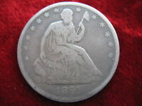 1861 O SEATED LIBERTY SILVER HALF DOLLAR BETTER GRADE BEAUTY CIVIL WAR DATE