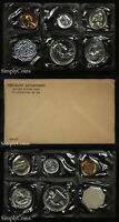 1958 PROOF SET WITH COA   FLAT PACK ORIGINAL ENVELOPE   US MINT SILVER COINS MQ