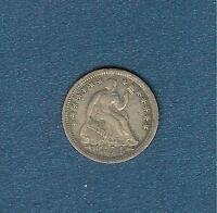 1854 WITH ARROWS SEATED LIBERTY HALF DIME HIGH GRADE