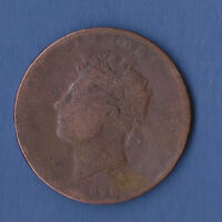 U.K. 1/2 PENNY 1826.NOT SENT TO URUGUAY AND COSTA RICA