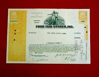 1970  FOOD FAIR STORES INC. COMMON STOCK CERTIFICATE PENNSYLVANIA T7U