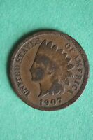 1907 INDIAN HEAD CENT PENNY ADDITIONAL ITEMS YOU FROM ME BUY SHIP FOR FREE 170
