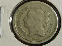 1868 3 CENT NICKEL PIECE