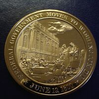 1800 U.S. GOVERNMENT MOVES TO WASHINGTON D.C. FRANKLIN MINT BRONZE UNCIRCULATED