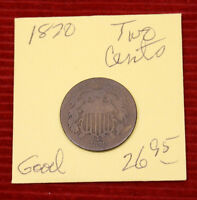 1870 TWO CENT PIECE - GOOD