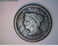 1849 LARGE CENT BRAIDED HAIR   13 62