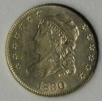 1830 BUST HALF DIME CHOICE UNCIRCULATED  1/2 10C 90 SILVER COIN SHIPS FREE
