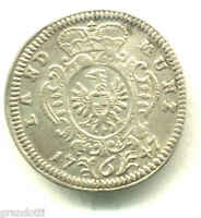 BRANDEBURGO GERMANIA 6 KREUZER 1741 MONETA IN ARGENTO
