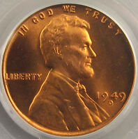 1949 D LINCOLN CENT   PCGS MS 66RD   FIERY RED BLAZER FROM THE BENSON COLLECTION