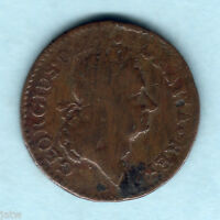 U.S.A   COLONIAL.  WOODS HIBERNIA 1722 HALFPENNY HARP TO RIGHT..   F/AF