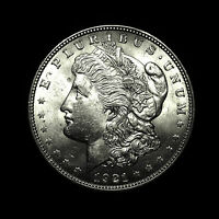 1921    ALMOST UNCIRCULATED AU    SILVER MORGAN DOLLAR  US ANTIQUE COIN