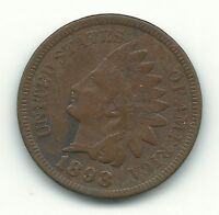 VERY FINE DETAILS 1898 INDIAN HEAD CENT OLD US COIN POROUS COIN APR767