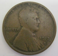 FAST FREE SHIP 1913 S LINCOLN CENT COIN  923H