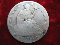 1855 O SEATED LIBERTY SILVER HALF DOLLAR HISTORIC COIN WITH BOLD DATE