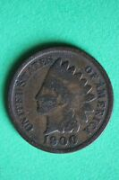 1900 INDIAN HEAD CENT PENNY NICE DETAILS FLAT RATE SHIPPING COIN 283