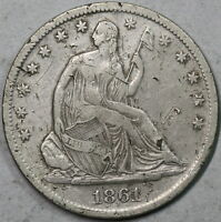1861 S SEATED LIBETY SILVER HALF DOLLAR UNTED STATES COIN 16010310R