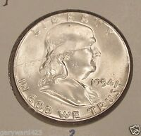 FRANKLIN  1954    UNCIRCULATED     DECENT  COIN  LOW  PRICE  104    2
