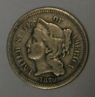 G1870 THREE CENT LIBERTY NICKEL IN F CONDITION
