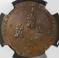 1790S NGC MS 65 CASTLES & OWL CONDER 1/2 PENNY CHESTER DH 5 15102802C