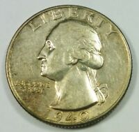 1940 UNITED STATES WASHINGTON HEAD QUARTER   AU ABOUT UNCIRCULATED CONDITION