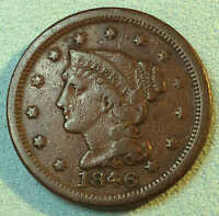 1846 LARGE CENT SHARP NICE