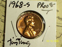 1968 S LINCOLN MEMORIAL PENNY  {PROOF}