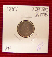 1887 LIBERTY SEATED DIME   VF