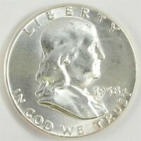 1958 FRANKLIN HALF DOLLAR 50C   CHOICE UNC   UNCIRCULATED
