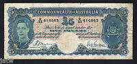 AUSTRALIA  R 45. 1939  FIVE POUNDS   SHEEHAN/MCFARLANE..  FINE