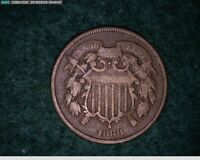 1868 2C TWO CENT  2-166