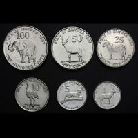 ERITREA SET 6 COINS 1 5 10 25 50 100 CENTS 1991 UNC