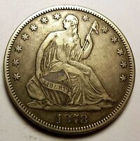 1878 SEATED HALF DOLLAR  DATE SHARP NICE BEAUTY