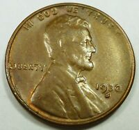 1930-S UNITED STATES LINCOLN HEAD WHEAT CENT / PENNY BU BRILLIANT UNCIRCULATED