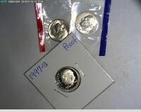 1997 PDS ROOSEVELT DIMES UNC IN MINT CELLO AND PROOF