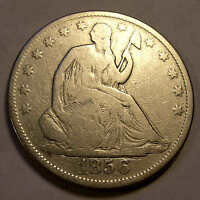 1856 SEATED HALF DOLLAR NICE
