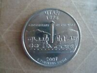 2007 P UTAH   STATE QUARTER 25 CENTS. US.WORLD COINS.