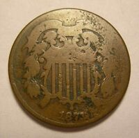 1871 TWO CENT KEY DATE SHIPS FREE